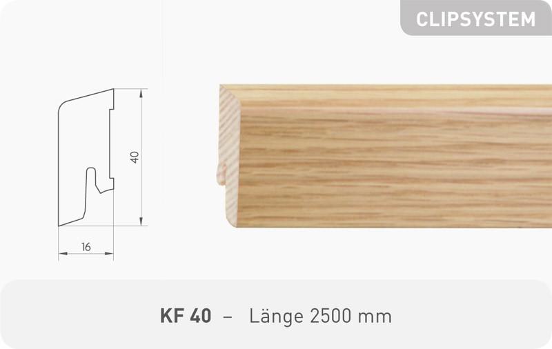Parkettleiste KF 40 Fichte weiß RAL 9010 ProStrong 2,50 m