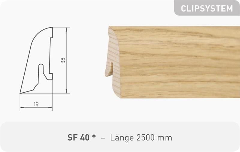 Parkettleiste SF 40 Esche ProActive+ 2,50 m