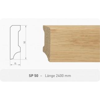 Parkettleiste SP 50 Eiche roh 2,40 m