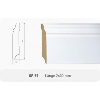 Parkettleiste SP 95 Kiefer weiß ProStrong 2,40 m