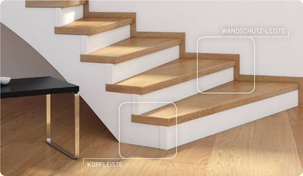 Treppe, Kopfleiste, Wandleiste, Stiegen