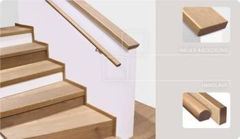 Treppe, Mauerabdeckung, Handlauf